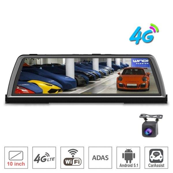 "zuczug 10"" Touch IPS 4G Dashboard Car DVR Android rear view mirror Dash Camera GPS navi Bluetooth WIFI ADAS Remote monitor"