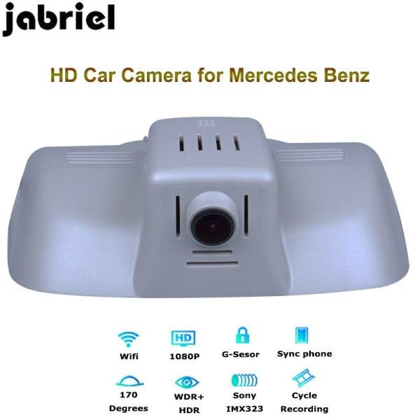 Jabriel for 2015 2016 2017 2018 Mercedes Benz E260 E300 E320 hidden 1080P dash cam car dvr driving recorder dual lens W211 W212