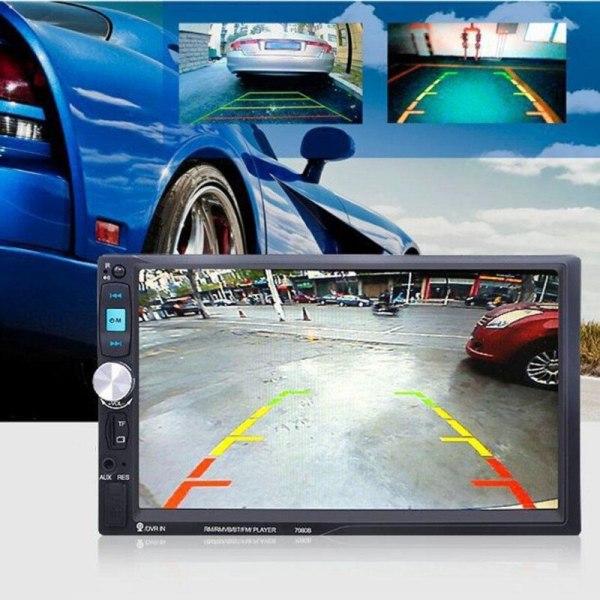 2 Din In Dash 7080B 7 Inch Touch Screen Car MP5 Bluetooth Radio Auto audio Player Stereo USB SD Rear View Camera autoradio 0255