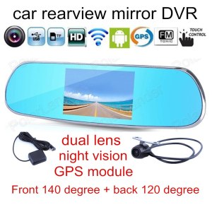 Android 1080P Dash Camera Parking Rearview Mirror