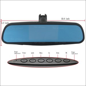 BigBigRoad For toyota highlander For fiat 500 Dual Lens Car Mirror DVR Camera Blue Screen Video Recorder Dash Cam