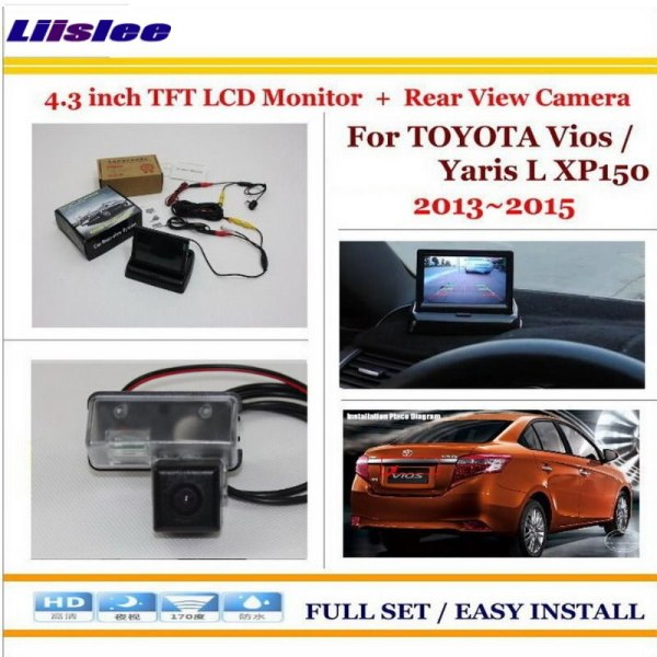"""Liislee For Toyota Vios / Yaris L XP150 2013~2015 - Car Reverse Rear Camera + 4.3"""" TFT LCD Monitor = 2 in 1 Parking System"""