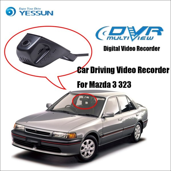 YESSUN For Mazda 3 323 Car Front Dash Camera CAM /DVR Driving Video Recorder - For iPhone Android APP Control Function