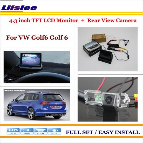 """Liislee For Volkswagen VW Golf6 Golf 6 - Auto Back UP Reverse Camera + 4.3"""" Color LCD Monitor = 2 in 1 Rearview Parking System"""
