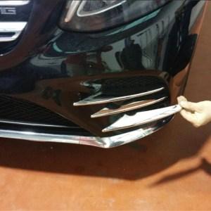 Front Fog Lights Lamp Lid Decoration Cover Trim For Mercedes-Benz GLC X253 43
