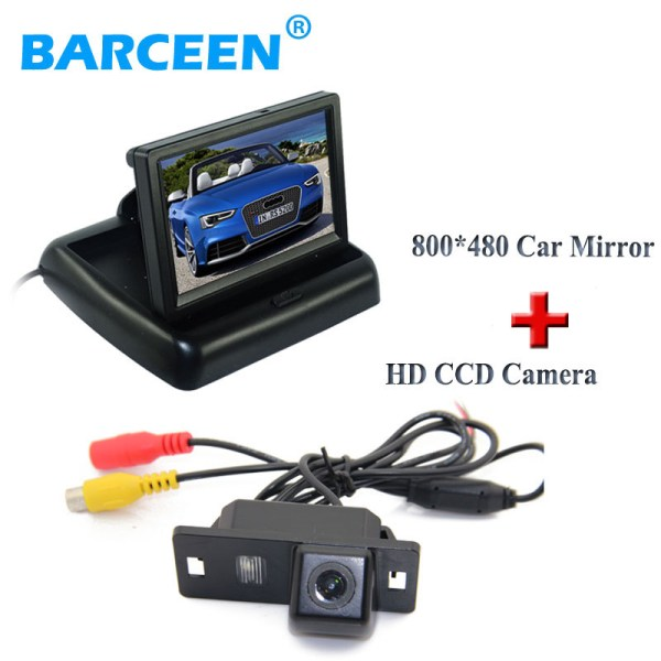 """Glass lens material car parking camera 170 viewing angle with 4.3""""car screen monitor use for Audi A4L 2013~2014 /TT/A5/A6/Q5"""