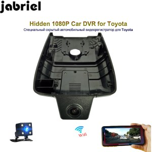 Jabriel hidden car dvr HD 1080P dash camera ios/android app wifi video recorder dual lens rearview camera for Toyota Camry 2018