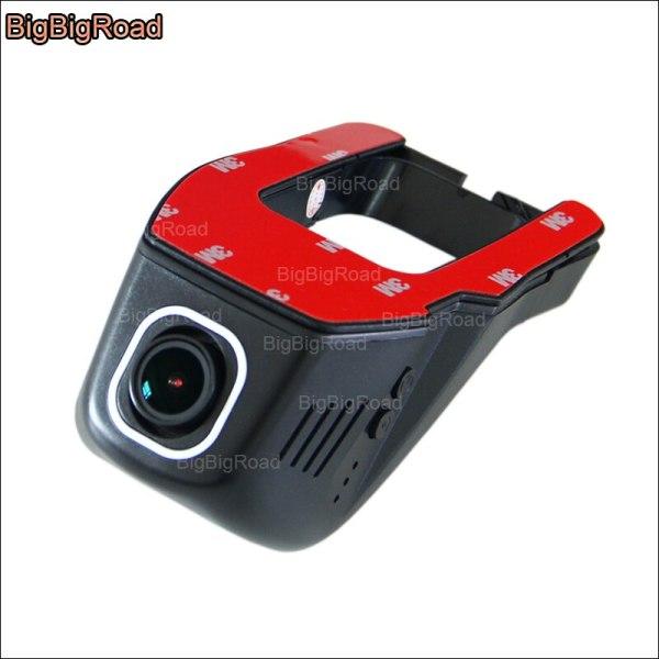 BigBigRoad For Peugeot 207 app control Car wifi DVR Car Video Recorder front camera Novatek 96655 Dash Cam FHD 1080P