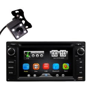 Universal 2 Din Car In Dash DVD MP3 Video Player Radio BT Head Unit Stereos with Parking Camera For Toyota (Without GPS)