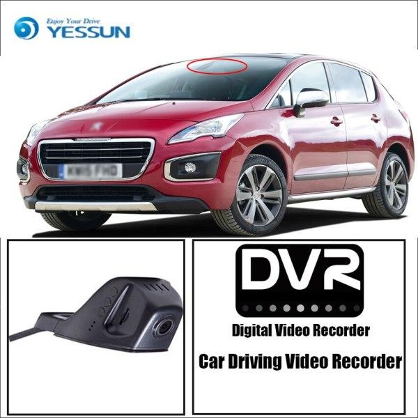YESSUN for Peugeot 3008 Car Driving Video Recorder DVR Mini Control APP Wifi Camera Registrator Dash Cam Original Style