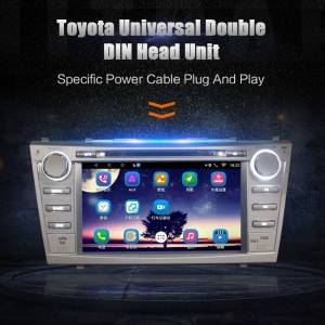2Din Car In Dash DVD Player Android GPS Radio Bluetooth WIFI Head Unit Stereos with Camera for Toyota Camry Aurion 2006-2012