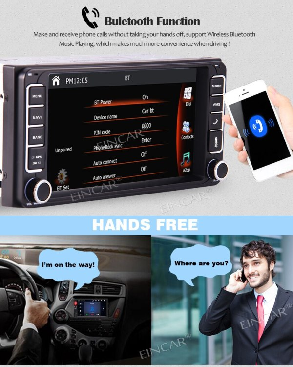 Toyota In Dash Headunit Touchscreen Double Din GPS Navigation Free Backup Camera and Map Card Special for Toyota In Dash Headunit MP5 player 7 Touchscreen Double Din GPS Navigation Car AM FM