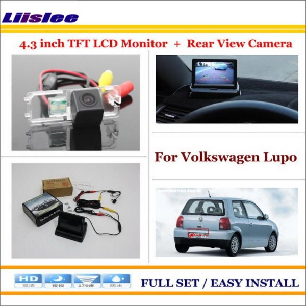 """Liislee For Volkswagen VW Lupo 1998~2006 - Car Rearview Camera + 4.3"""" LCD Screen Monitor = 2 in 1 Parking Assistance System"""