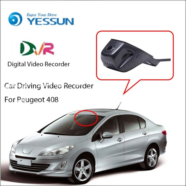 YESSUN For Peugeot 408 Car Front Dash Camera CAM / DVR Driving Video Recorder For iPhone Android APP Control Function