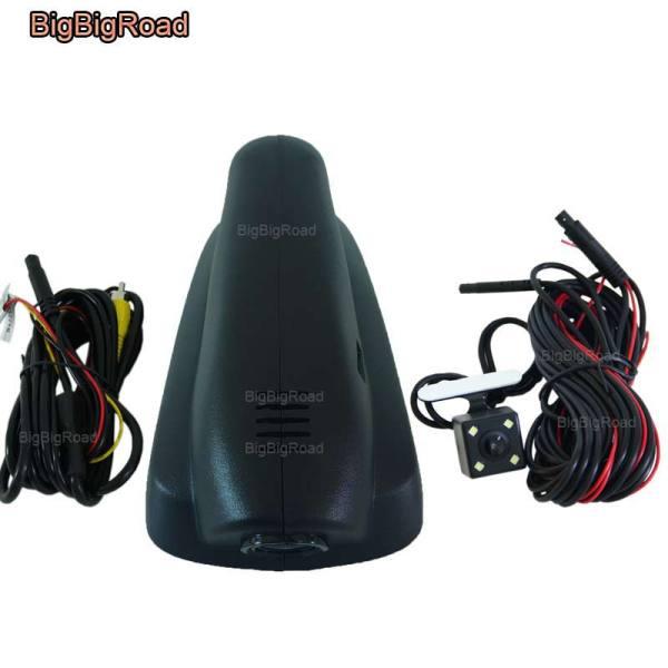 BigBigRoad For peugeot 3008 2013 2014 2015 Car Video Recorder Wifi DVR Dash Cam Dual Cameras lens FHD 1080P