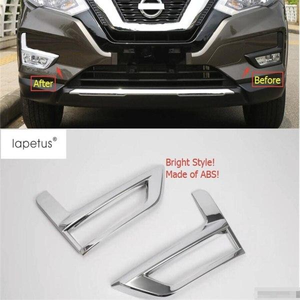 Front Fog Lamp Lights Molding Cover Kit Trim Nissan X-Trail X