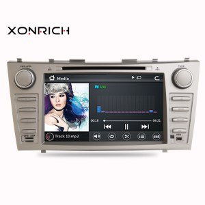 2Din Car In Dash DVD Player GPS Navi Radio Bluetooth Head Unit Stereos with Reverse Camera for Toyota Camry Aurion 2007-2011