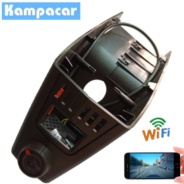 Kampacar 2 Hidden HD Wifi Car DVR Black Dash Cam Camera For BMW 1 serie f21 facelift 5 Series f10 X5 X6 With LDWS Video Recorder
