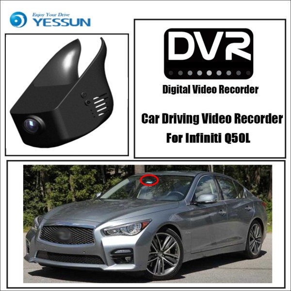 YESSUN for Infiniti Q50L Car Driving Video Recorder DVR Mini Control APP Wifi Camera Registrator Dash Cam Original Style