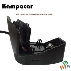 Kampacar 2 Car Wifi DVRs Auto Camera Video Recorder For Volvo XC90 2015 2016 2017 2018 2019 Two Lens Dual Dash Cam Mini Car Dvr