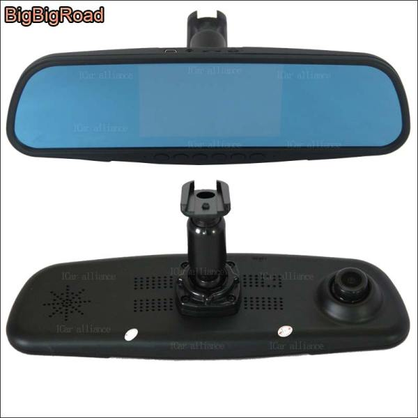 BigBigRoad Car DVR For chevrolet aveo dual lens Driving Video Recorder Rearview mirror Dash Cam with Special Bracket