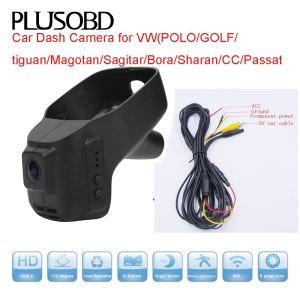 Car Dash Cam HD DVR for VW POLO/GOLF/tiguan/Magotan/Sagitar/Bora/Sharan/CC/Passat(year2006-2015) with AV OUT cable