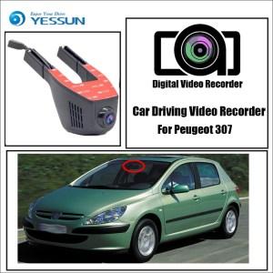 YESSUN for Peugeot 307 Car Driving Video Recorder Wifi DVR Mini Camera Novatek 96658 FHD 1080P Dash Cam Night Vision