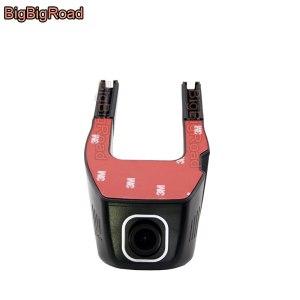 BigBigRoad Car Wifi DVR For Golf 4 5 6 Passat pickup Dual Camera Car Video Recorder Dash Cam FHD 1080P