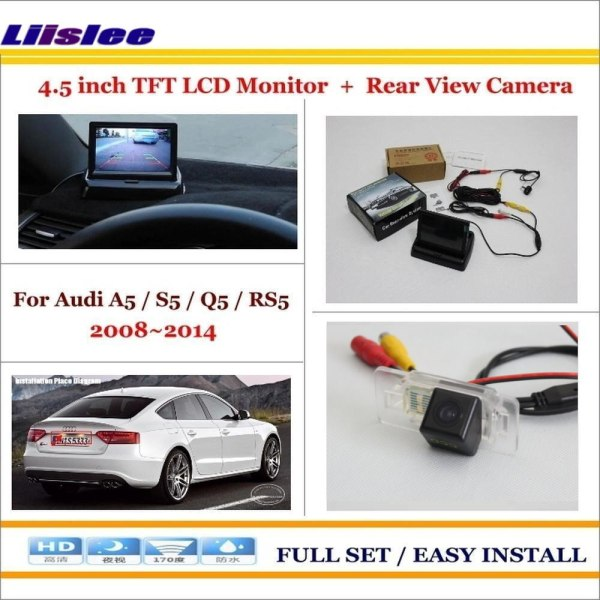 """Liislee For Audi A5 / S5 / Q5 / RS5 2008~2014 - Car Backup Rear Camera + 4.3"""" TFT LCD Screen Monitor = 2 in 1 Parking System"""