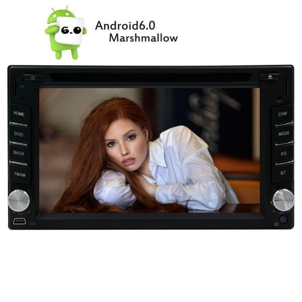 """Android 6.0 2Din Car Stereo 6.2"""" Touch Screen In Dash Car DVD Player Support 3D GPS Navigation Map 3G/4G WIFI OBD2 USB/SD Cam-In"""