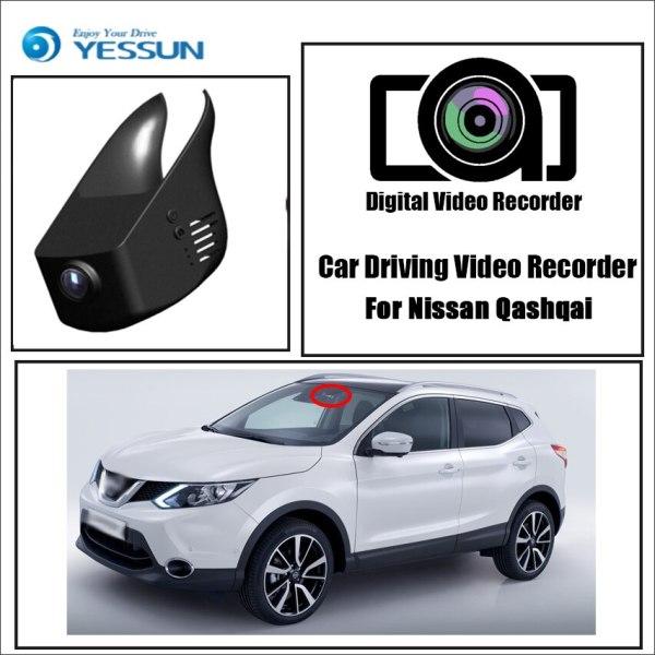 YESSUN for Nissan Qashqai Car DVR Driving Video Recorder Mini Control APP Wifi Camera FHD 1080P Registrator Dash Cam