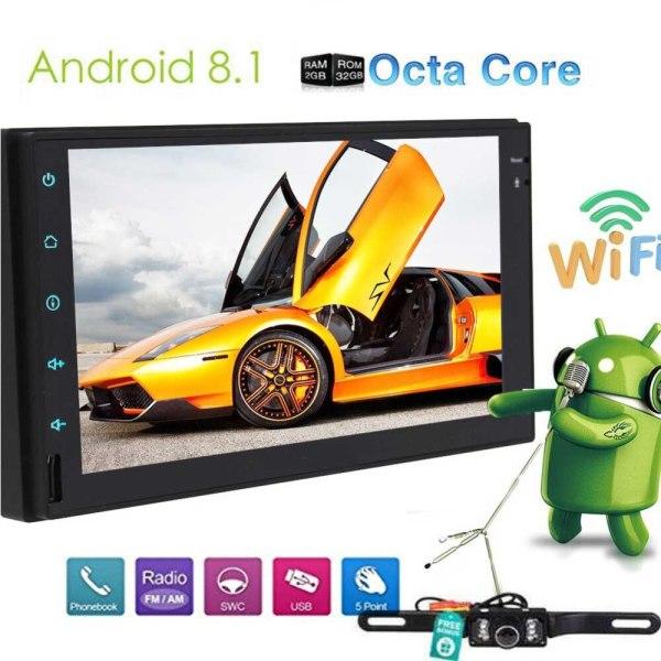 Car Stereo (No DVD) Radio Video Player Cam-in Wifi GPS Sat Navigation Mirror Link Autoradio Bluetooth Touchscreen GPS Navigator