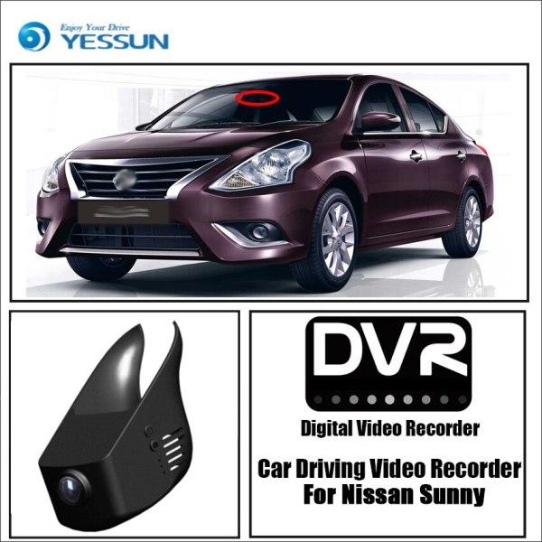 YESSUN for Nissan Sunny Car DVR Driving Video Recorder Mini Control APP Wifi Camera FHD 1080P Registrator Dash Cam