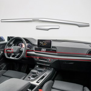 Left Hand Drive! For Audi Q5 2018 ABS Plastic Interior Dashboard Center Console Decoration Strips Cover Trim 2pcs Car Styling