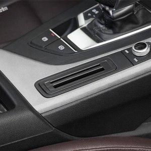 Lapetus Center Control Card Container Bank Card Cover Trim Plastic For Audi A4 B9 A5 Sedan / Avant / Allroad Quattro 2016 - 2019