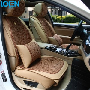 1 Set Linen Car Seat Covers & Supports Leather Auto Interior Decoration Accessories Protector For BMW 525li Audi A6L Q3 Q5 Buick