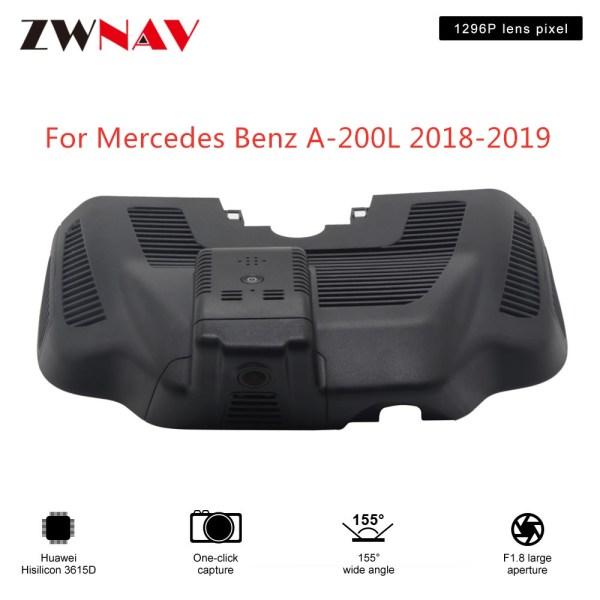 Hidden Type HD Driving recorder dedicated For Mercedes Benz A-200L 2018-2019 DVR Dash cam Car front camera WIfi