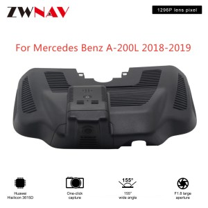 Hidden Type HD Driving recorder dedicated For Mercedes Benz A-200L 2018-2019 DVR Dash cam Car front camera WIfi
