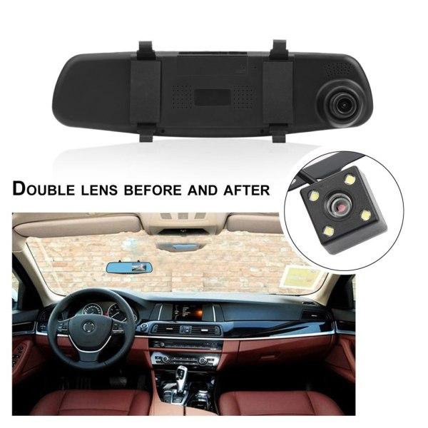 Dual Lens Car Camera Rearview Mirror Auto DVRs Cars Parking Video Recorder Dash Cam Full 1080p Night Vision DVR