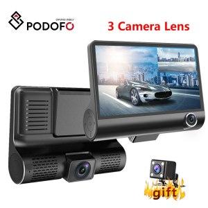 Podofo Dash Cam 4.0 inch HD Car DVR Dash Camera Dual Lens With Rear View Camera Video Auto Dvrs Dash Cam Car DVR Dvrs Camcorder