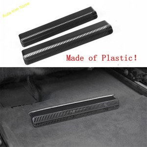 Lapetus Heat Floor Air Conditioning AC Duct Vent Outlet Grille Cover Trim Black Fit For Audi A6 C8 2019 Plastic