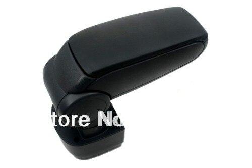 Center Console Armrest Black Leather For Mazda 2 2008-2012