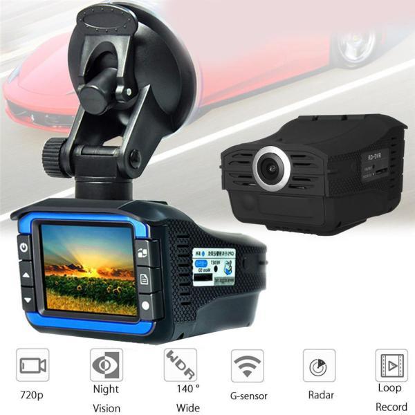 2-in-1 2 nch HD 720P Car DVR Camera Radars Detector Video Recorder Dash Cam Anti Radars forRussia video recorder видеорегистрато