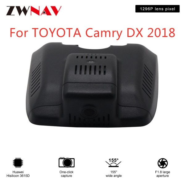 Hidden Type HD Driving recorder dedicated For TOYOTA Camry DX 2018 DVR Dash cam Car front camera WIfi
