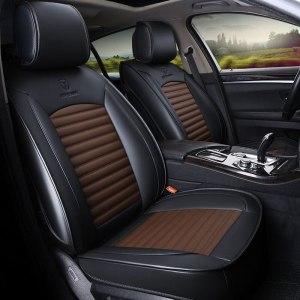 Leather car seat cover seats covers automobiles cushion for renault armrest capture clio 4 fluence kadjar kaptur koleos laguna 2