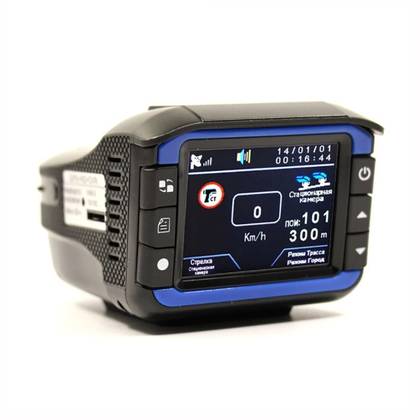 3-in-1 Car DVR Recorder Russian Dedicated Voice Broadcast GPS Camera Dash Cam Fixed / Flow Velocity Measurement Radar Detectors