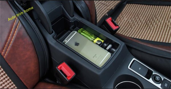 Lapetus For Audi Q3 2013 2014 2015 2016 2017 Plastic Armrest Storage Pallet Container Box Cover Trim 1 Piece
