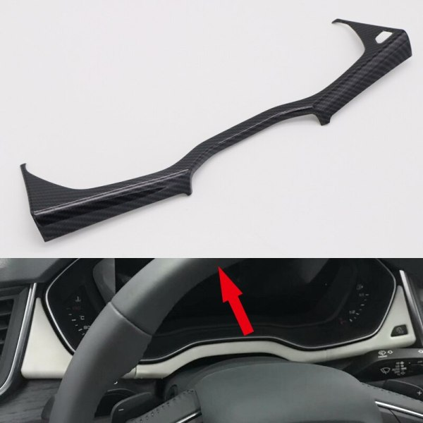 Left Hand Drive Only! For Audi Q5 2018 ABS Plastic Interior Dashboard Meter Bottom Decoration Strip Cover 1pcs Car Styling