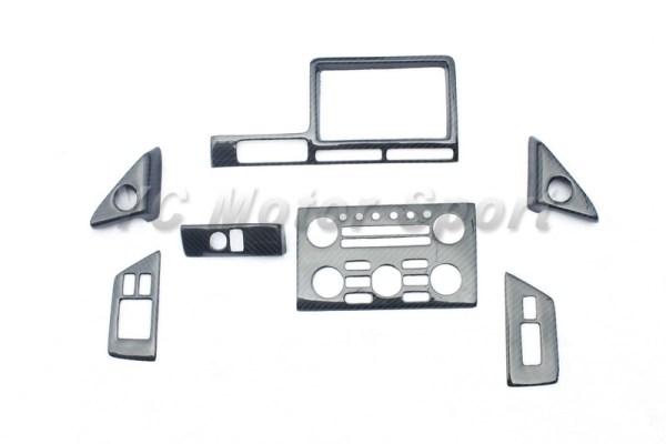 Car sticker Dry Carbon Fiber RSW Style Interior Trim Kit 7pcs Fit For 2008-2010 R35 GTR LHD Interior Trim Car-styling