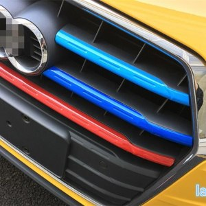 Colorfully ! For Audi Q3 2016 2017 2018 Plastic Car Styling Front Head Central Grille Grill Decoration Cover Trim 5 Pcs / Set